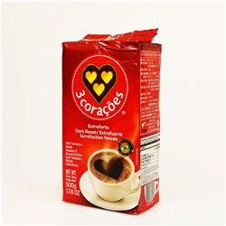 3 corações CAFÉ EXTRAFORTE 500g レギュラーコーヒー 3コラソエンスエクストラフォルテコーヒー