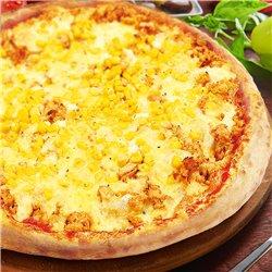 チキンとチーズピザ
