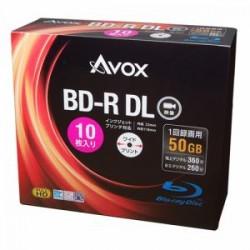 テクタイト BR260RAPW10A 録画用ブルーレイディスク BD-R(DL:二層) 50GB 10枚スリムケース