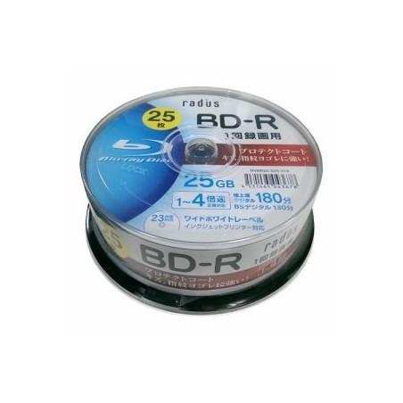radius(ラディウス) RVBR25-S25-314 1回録画用 1-4倍 25GB 25枚