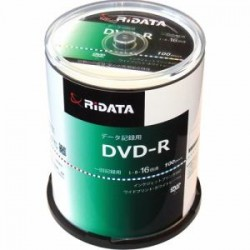 RiDATA DR47GB.PW100RDC 一回記録用DVD-R ワイドプリントレーベルディスク 1~16倍速 4.7GB 100枚スピンドルケース