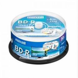 マクセル(Maxell) BRV25WPE30SP 録画用BD-R ひろびろ美白レーベルディスク 1-4倍 25GB 30枚 スピンドルケース
