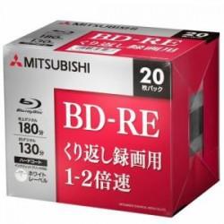 三菱ケミカルメディア VBE130NP20D5 ヤマダ電機オリジナルモデル 録画用BD-RE(片面1層)