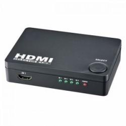 オーム電機 AV-S04S-K HDMIセレクター 4ポート 黒